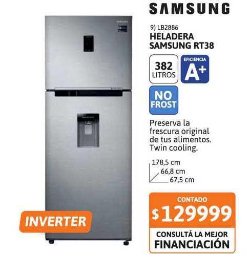 Cetrogar Heladera Samsung Rt38