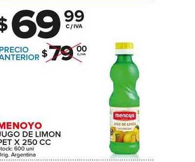 Carrefour Maxi Menoyo Jugo De Limon