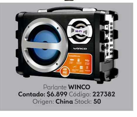 Coppel Parlante Winco