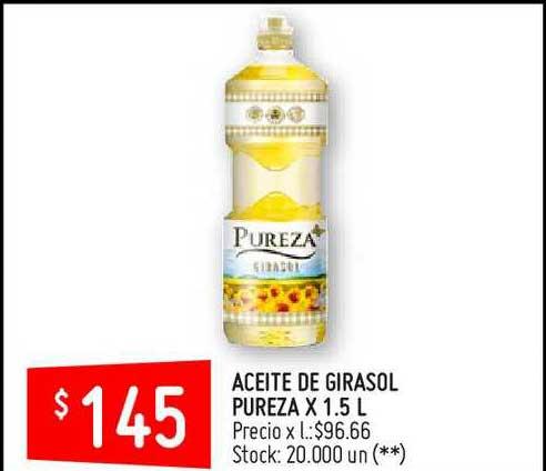 Changomas Aceite De Girasol Pureza X 1.5 L