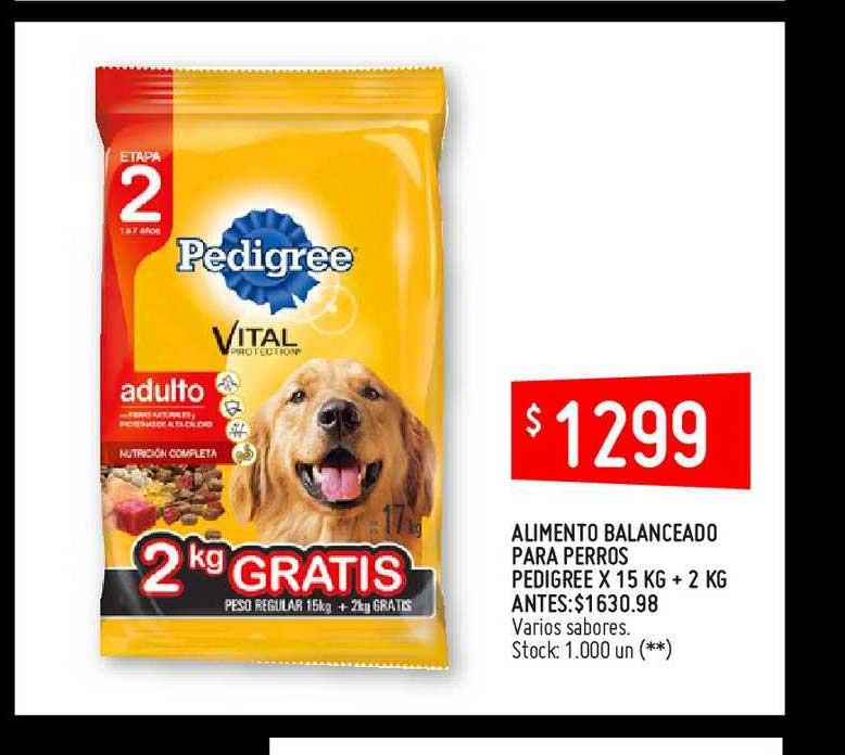 Changomas Alimento Balanceado Para Perros Pedigree X 15 KG + 2 KG
