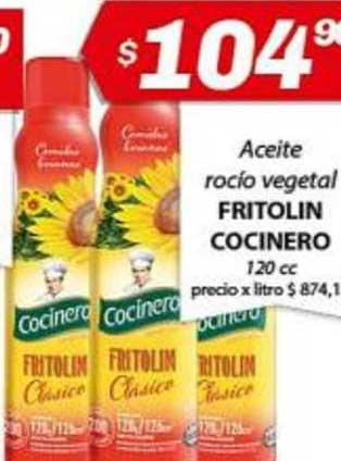 Almacor Aceite Rocío Vegetal Fritolin Cocinero 120 Cc