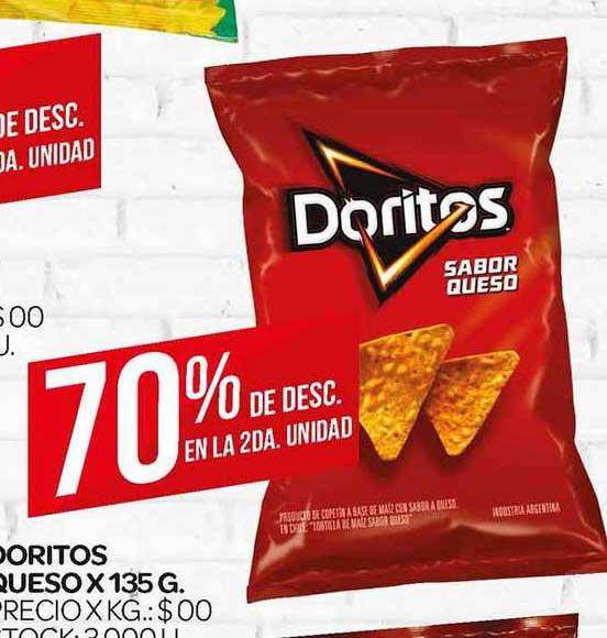 Supermercados DIA Doritos Sabor Queso X 135 G.