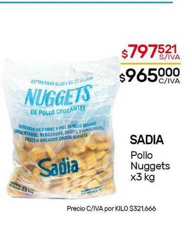 Nini Mayorista Sadia Pollo Nuggets X 3 Kg