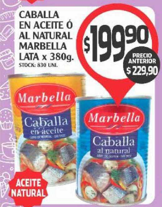 Supermercados Malambo Caballa En Aceite ó Al Natural Marbella Lata