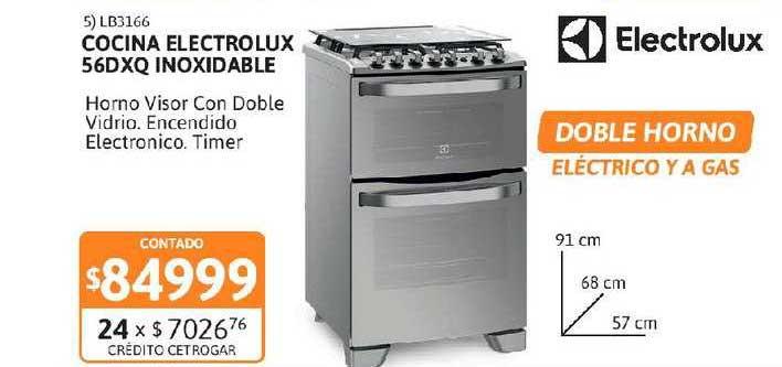 Cetrogar Cocina Electrolux 56DXQ Inoxidable