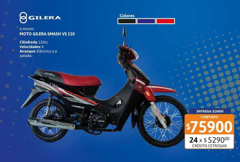 Cetrogar Moto Gilera Smash VS 110