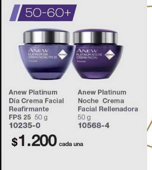 Avon Anew Platinum Día Crema Facial Reafirmante FPS 25 - Anew Platinum Noche Crema Facial Rellenadora