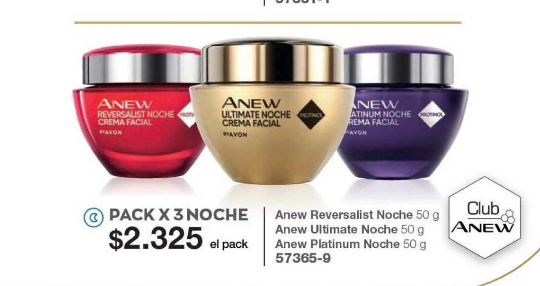Avon Anew Reversalist Noche - Anew Ultimate Noche - Anew Platinum Noche