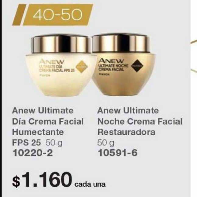 Avon Anew Ultimate Día Crema Facial Humectante FPS 25 - Anew Ultimate Noche Crema Facial Restauradora
