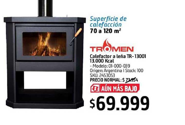 Sodimac Calefactor A Leña Tr-13001 13.000 Kcal Tromen