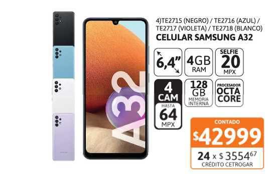 Cetrogar Celular Samsung A32