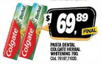 Supermercados Yaguar Pasta Dental Colgate Herbal Whitening 70G