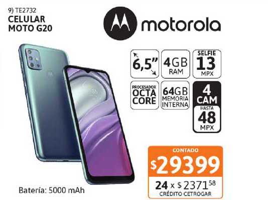 Cetrogar Celular Moto G20