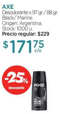 Farmacity Axe Desodorante -25% Descuento