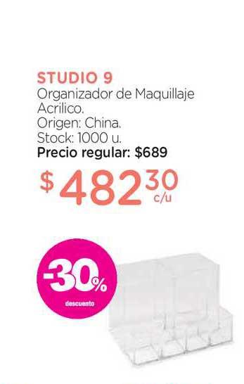 Farmacity Studio Organizador De Maquillaje Arcrilico -30% Descuento