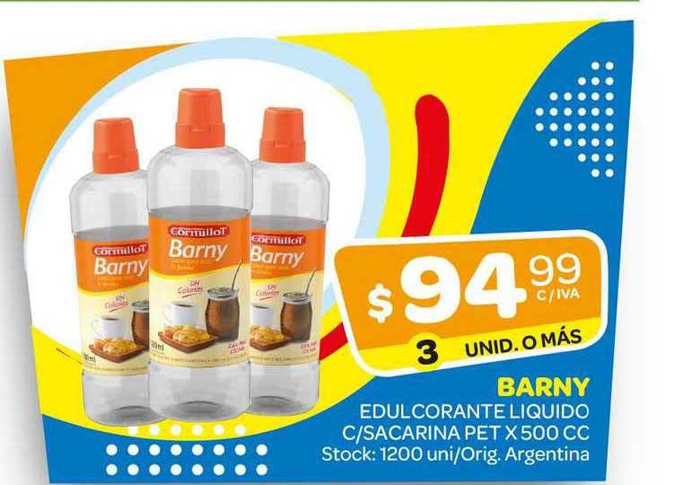 Carrefour Maxi Barny Edulcorante Liquido C-Sacarina Pet X 500 Cc