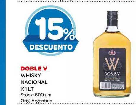 Carrefour Maxi Doble V Whisky Nacional X 1 LT