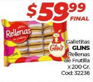 Diarco Galletitas Glins Rellenas De Frutilla