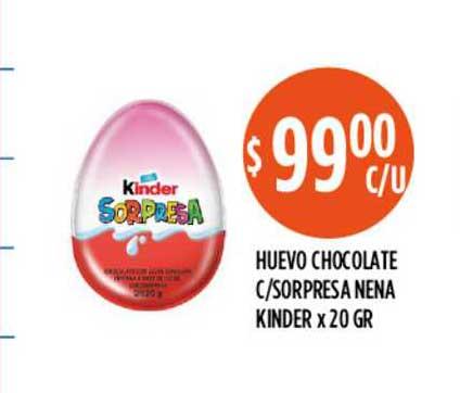 Supermercados Toledo Huevo Chocolate C-sorpresa Nena Kinder