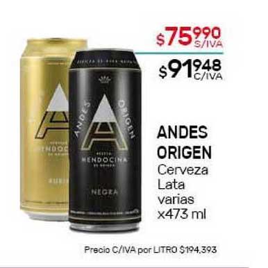 Nini Mayorista Andes Origen Cerveza