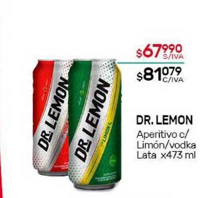 Nini Mayorista Dr. Lemon Aperitivo C Limón Vodka