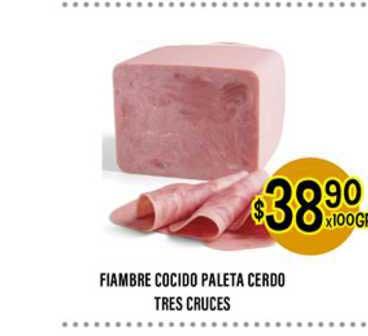 Supermercados Toledo Fiambre Cocido Paleta Cerdo Tres Cruces