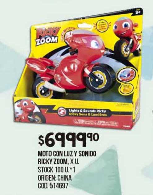 Coto Moto Con Luz Y Sonido Ricky Zoom