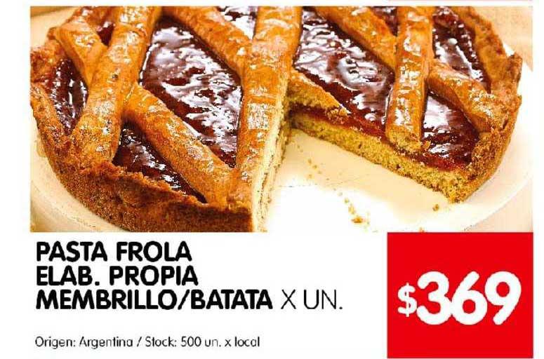 Disco Pasta Frola Elab. Propia Embrillo Batata