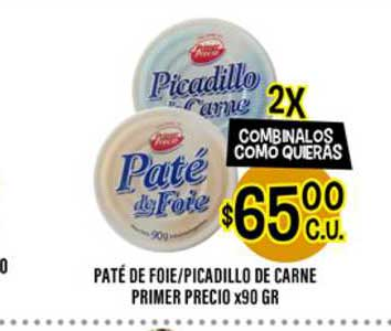Supermercados Toledo Paté De Foie Picadillo De Carne Primer Precio
