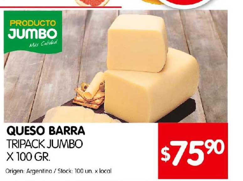 Disco Queso Barra Tripack Jumbo
