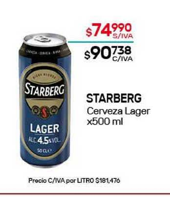 Nini Mayorista Starberg Cerveza Lager