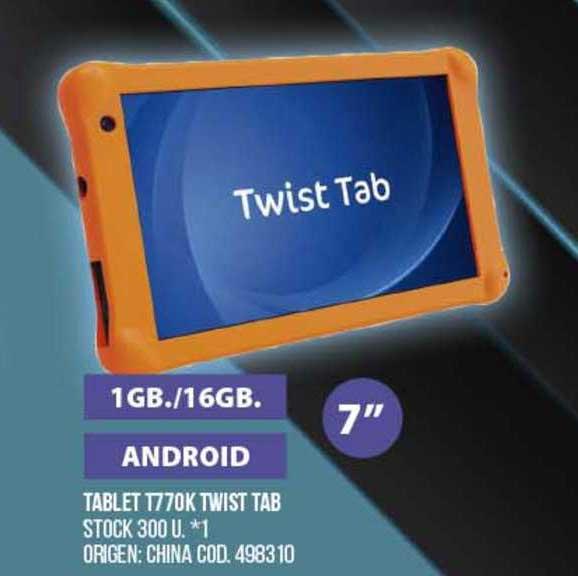 Coto Tablet T770k Twist Tab