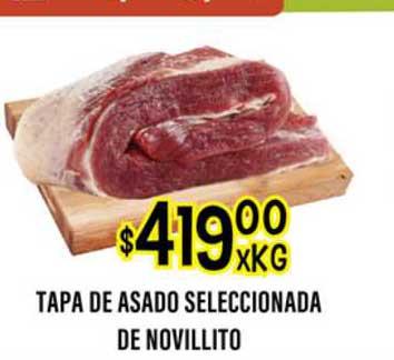Supermercados Toledo Tapa De Asado Seleccionada De Novillito