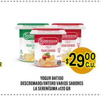 Supermercados Toledo Yogur Batido Descremado Entero Varios Sabores La Serenísima