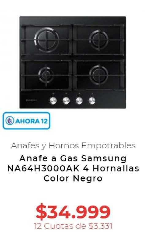 Otero Anafe A Gas Samsung NA64H3000AK 4 Hornallas Color Negro