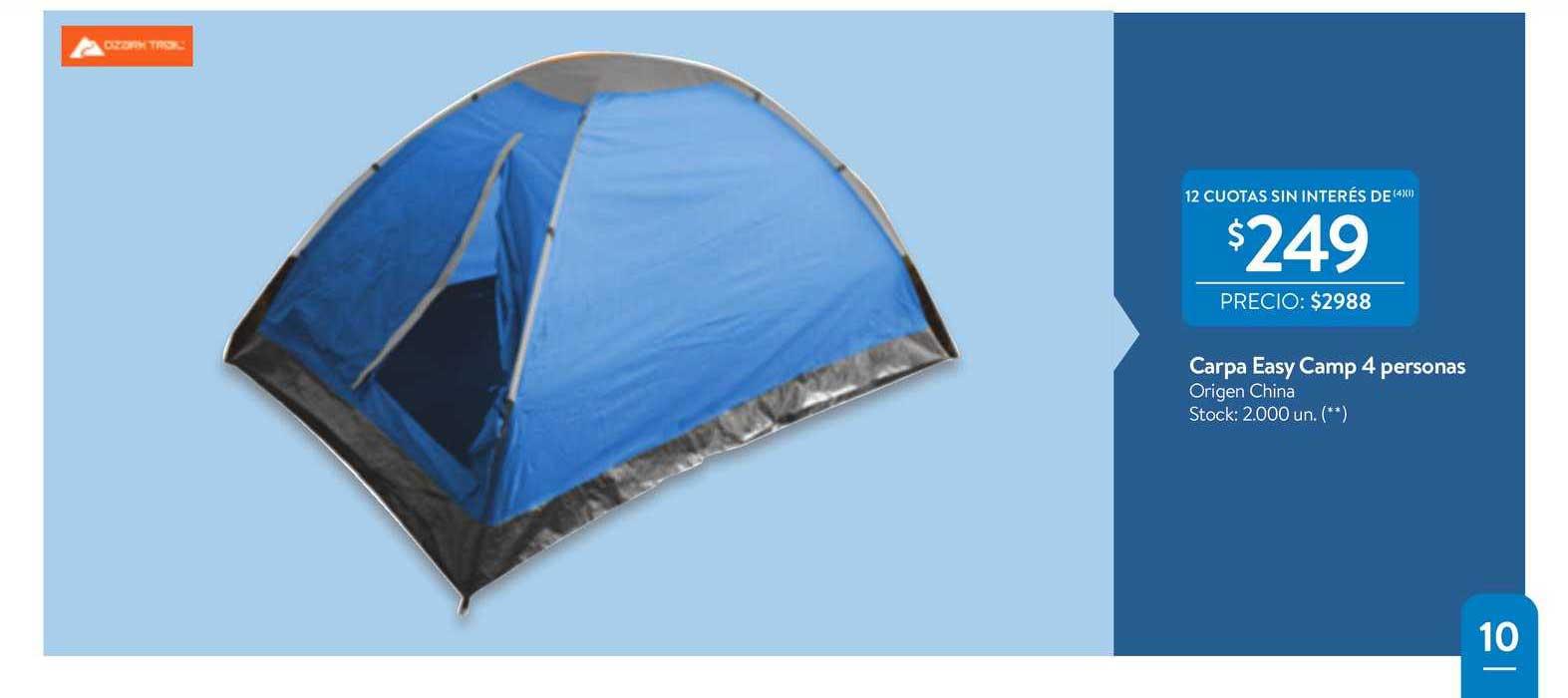Walmart Carpa Easy Camp 4 Personas
