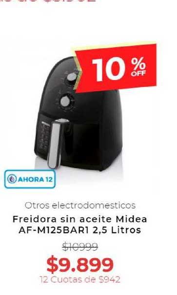 Otero Freidora Sin Aceite Midea AF-M125BAR1 2,5 Litros