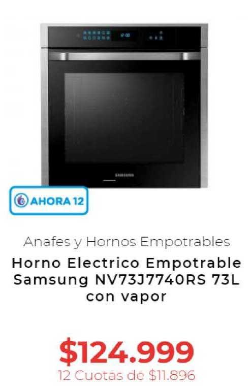 Otero Horno Electrico Empotrable Samsung NV73J7740RS 73L Con Vapor