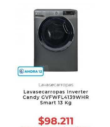 Otero Lavasecarropas Inverter Candy GVFWFL4139WHR Smart 13 Kg