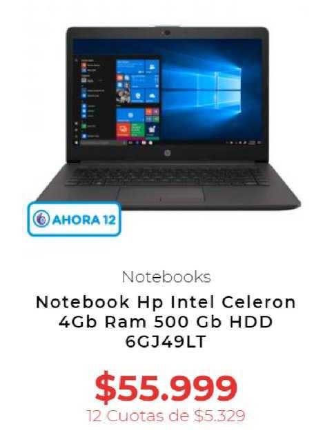 Otero Notebook Hp Intel Celeron 4Gb Ram 500 Gb HDD 6GJ49LT