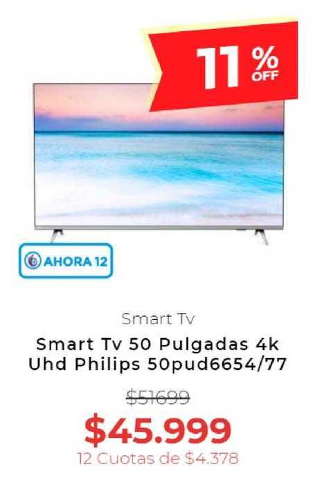 Otero Smart Tv 50 Pulgadas 4k Uhd Philips 50pud6654-77