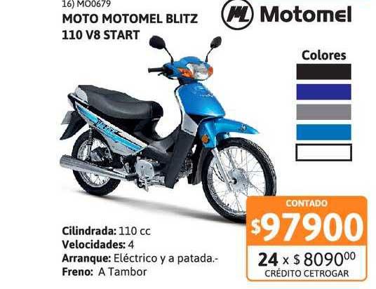 Cetrogar Moto Motomel Blitz 110 V8 Start