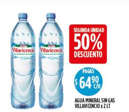 Supermercados Toledo Agua Mineral Sin Gas Villavicencio 50% Descuento