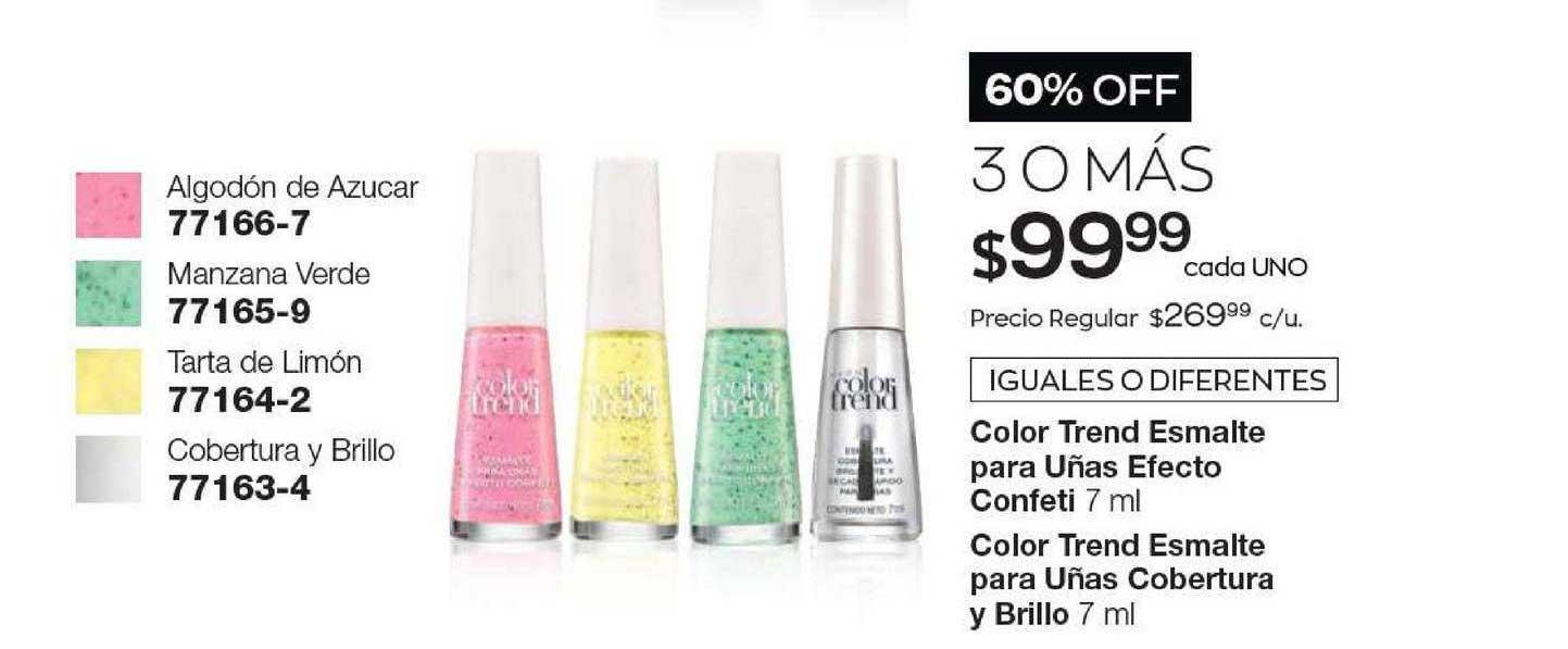 Avon Color Trend Esmalte Para Uñas Efecto Confeti - Color Trend Esmalte Para Uñas Cobertura Y Brillo