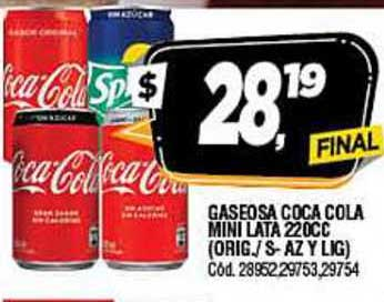 Supermercados Yaguar Gaseosa Coca Cola Mini Lata