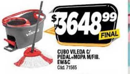 Supermercados Yaguar Cubo Vileda C- Pedal + Mopa M-fib Ew&c
