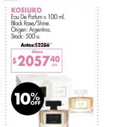 Simplicity Kosiuko Eau De Parfum Black Rose - Shine