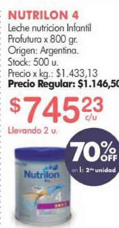Simplicity Nutrilon 4 Leche Nutricion Infantil Profutura 70% Off En La 2da Unidad