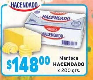 Borbotti Hipermercado Manteca Hacendado X 200 Grs